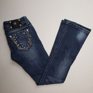 Miss Me Bling Jewel Pocket Boot Cut Jeans